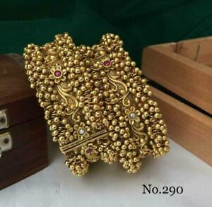 Indian Ethnic 2PC Bollywood Jewelry Style Fancy Rajwada Bridal Fashion Kadas AA