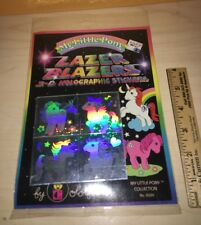 Vintage 1983 My Little Pony Pony LAZER BLAZERS 3D Stickers New Sealed Package $$