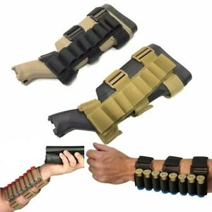 CQC Outdoor Shotshell Holder Arm Pouch Tactical Buttstock Belt Hunting Mag Bag