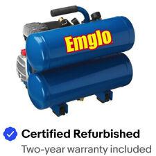 Emglo E810-4VR 1.1 HP 4 Gal. Twin Stack Air Compressor Certified Refurbished