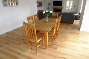 Solid French Oak Dining set
