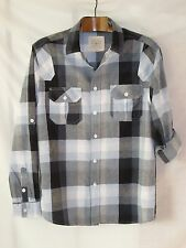 M&Co Sandstone Mens Checked Blue White Shirt Top size Small 2 Length Sleeves Top