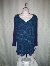 3/4 Sleeve lined front Blouses XXL,XL,Dana Buchman 53% nylon 34% polyester 13% s