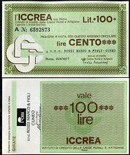 ICCREA 15/6/1977 snc ROSSI MARCO & FIGLI - CUNEO  L.100 FDS