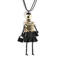 Hot Women's Doll Vintage Crystal Long Retro Girl Chain Pendant Necklace Jewelry