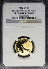 2012 W $5 Star Spangled Banner NGC PF 70 Ultra Cameo gold perfect must see!