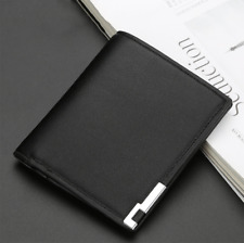 Men's Leather Bifold Wallet Business ID Credit Card Holder Billfold Clutch Purse