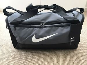 Nike Brasilia Small 41L Duffel / Holdall Sports Bag Grey/Black