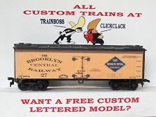 HO CUSTOM LETTERED BROOKLYN CENTRAL RR FREIGHT CAR REEFER. LOT A