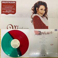 Mariah Carey 'Merry Christmas' Vinyl LP (Red & Green Record) Limited Xmas