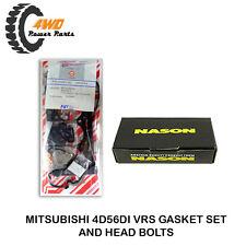 Mitsubishi Triton ML MN 4D56DI VRS Gasket Set & Head Bolts Kit 4 Cyl 2.5Ltr DOHC
