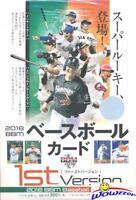 2018 BBM Baseball 1st Version Factory Sealed HOBBY Box from Japan-Next Ohtani?