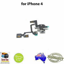 for iPhone 4 - Headphone Audio Jack Volume Switch Mute Flex Ribbon Cable - BLACK