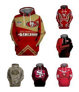 San Francisco 49ers Hoodie 3D Print Fan Sweatshirt Casual Pullover Hooded Jacket