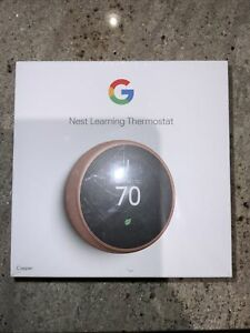 Google Nest Learning Smart Thermostat 3rd Generation Copper T3021US *Read*