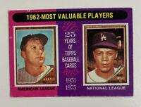1975 Mickey Mantle # 200 1962 MVPs Topps Baseball Card New York Yankees NY