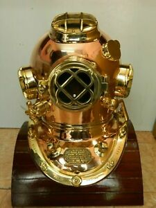 Pure Brass and Copper Diving helmet Made From Heavy Metals Mark V Divers Helmet