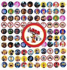 """100 Precut 1"""" Lego Movie Bottle cap Images Set 1"""