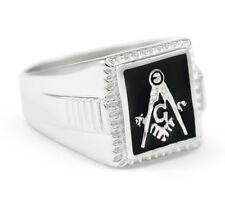 Masonic Sterling Silver Square Ring | Freemasonry | Father's Day Gifts | Rings