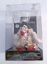 Elvis Presley Christmas Tree Ornament Blown Glass 2007 Kurt S Adler New in Box