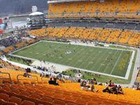 2 Tickets Pittsburgh Steelers vs Carolina Panthers 515 Row LL PRESEASON 8/30