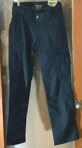 NWT 5.11 Tactical women Navy Blue Cargo pants 12 Regular