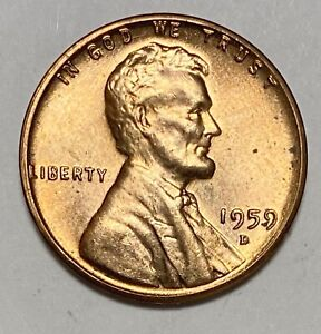 1959 D Lincoln Memorial 1 Cent Uncirculated Double Die Obverse Error Coin (3791)