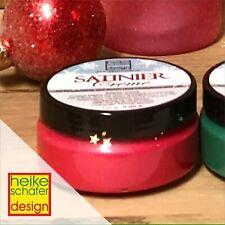 Satiniercreme in der Farbe Weihnachtsrot - 100g -Neu-  Heike Schäfer Design