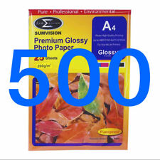 500 Sheets Pack Sumvision 200gsm A4 Inkjet Photo paper White Glossy Surface