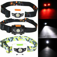 XPE COB LED Headlamp USB Rechargeable Headlight Head Light Lamp Torch Flashlight