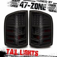 For 2007-13 Chevy Silverado Black Housing Smoke Lens LED Tail Lights Lamps Pair