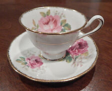 "ROYAL ALBERT ""AMERICAN BEAUTY"" PATTERN DEMITASSE CUP & SAUCER MADE IN ENGLAND"