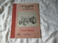 Massey Ferguson MF88 MF 88 diesel special tractor operator's manual