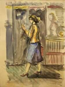 REGINALD MARSH, Watercolor on Paper