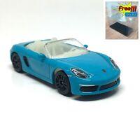 Majorette Porsche 718 Boxster Blue GITD 1/58 209G no Package Free Display Box