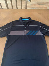 Adidas Golf ClimaChill Polo Shirt Mens Large Chill Dots Black $75 Polyester