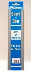 Van Door Boot Edge Guard Protector Universal Pair Snap On Silver Doorguard Cover