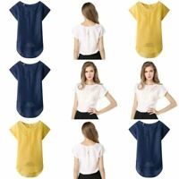 Solid Jumper Pullover Floral Loose Womens T-Shirt Tops Blouse Fashion Casual Top
