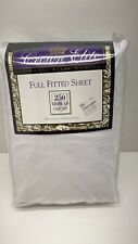 Vtg Crowne Elite Full Fitted Sheet 250 Thread Count New