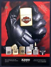 1998 Harley-Davidson Motorcycle-Inspired Zippo Lighters photo promo print ad