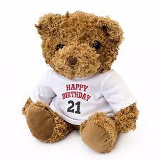 NEW - HAPPY BIRTHDAY 21 - Teddy Bear - Cute And Cuddly - 21st Gift Present