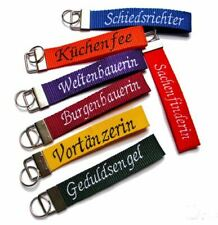 Schlüsselanhänger Schlüsselband mit Name Wunschtext bestickt, Gurtband, Namen