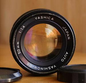 Rare Yashinon-DS 50mm f/1.4 M42 Mount Manual Focus Lens w/ Caps Yashica Japan