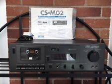Vintage Akai CS-M02 Vintage HiFi Stereo Cassette Deck Recorder CrO2 Dolby, Black