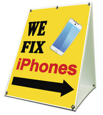 We Fix Iphones Sidewalk A Frame 18x24 Outdoor Cell Phone Store Retail Sign