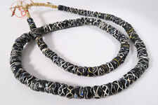 Vieja abalorios Rattle Snake beads 82cm rare old Venetian trade beads afrozip