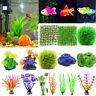 Aquarium Fish Tank Artificial Grass Coral Plastic For Water Plant Ornament Decor