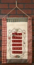 Fabric Christmas Countdown Wall Hanging with Hearts