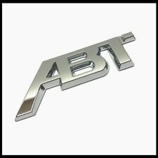 Chrome ABT Badge Emblem Sticker Rear Boot Tailgate For VW Golf Audi Seat Skoda