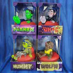 All 4 Spooky Toobers Not Another Rubber Ducky Bath Werewolf Mummy Frank Dracula